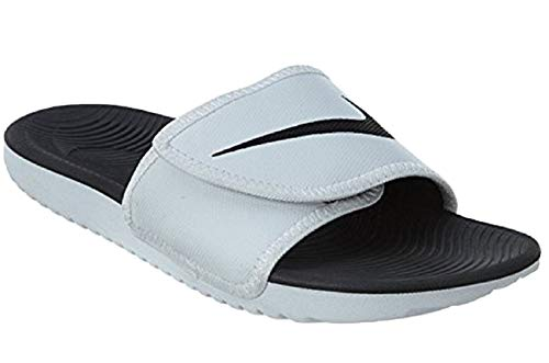 Nike Men's Kawa Adjustable Slide Sandals, White/Black-White, 10