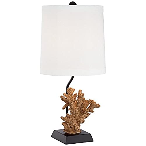 Faux Coral Gold Table Lamp