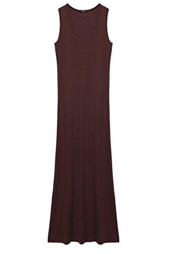 Sleeveless Bodycon cindere Bodycon Midi Dresses Dresses Sleeveless Dress Brown Long Casual Dress Casual Bodycon rAnzrq8B