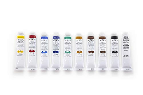 Winsor & Newton Artists' Oil Colour Paint Introductory Set, Ten 21ml Tubes