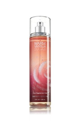 Bath and Body Works Fine Fragrance Mist Warm Vanilla Sugar 8.0 oz (Bath And Body Works Splash)