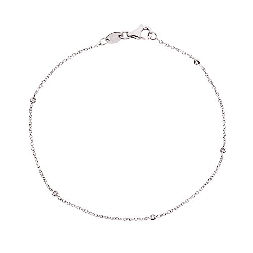 & You - Bracelet Chaîne - Argent 925 - Access - Diamant 0.05 cts - 18 cm - AM-AGBRAC TIF 005