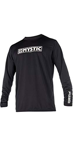 Mystic Star Long Sleeve Loosefit Quick Dry Rash Vest Black 180106 Size - M