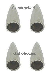 Chrome Bullet Cap - Chrome Bullet Shape Valve Cap Set of 4