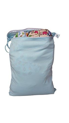 Infant / Babies Waterproof Wetbag EXTRA LARGE - Reusable Cloth Diaper / Swim Bag (Wet Bag Zipper Large compare prices)