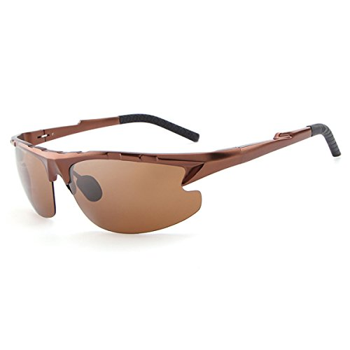 HDCRAFTER Valentine's Day Gift Mens Polarised Sport Sunglasses E003 (Brown, - Ball Sunglasses Tennis