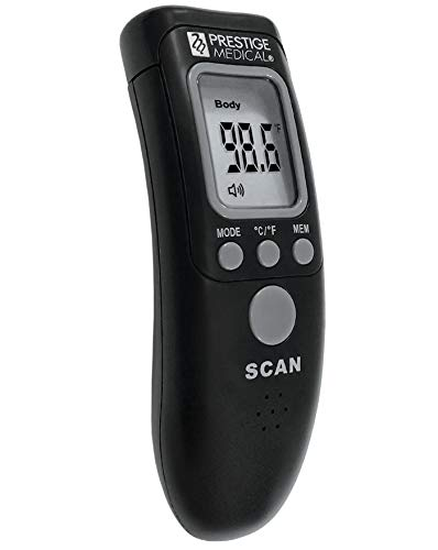 Prestige Medical Infrared Forehead Thermometer, Black