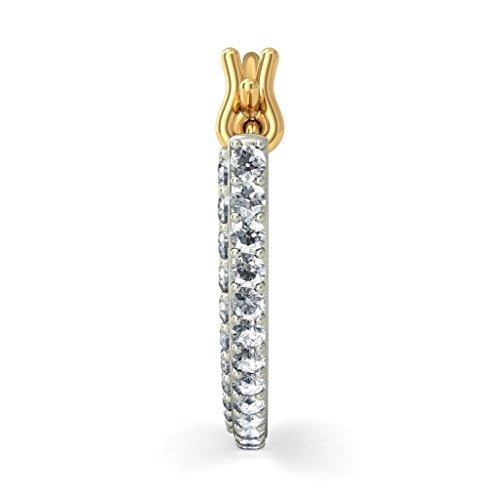 14K Or jaune 0,91carat au total White-diamond (IJ | SI) Boucles d'oreilles créoles