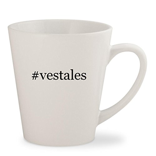 #vestales - White Hashtag 12oz Ceramic Latte Mug - Sunglasses Ny Vestal