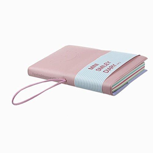 BeautyLifeⓇ - Agendina in stile classico, bloc-notes, taccuino, quaderno, modello Mini Smiley Diary b