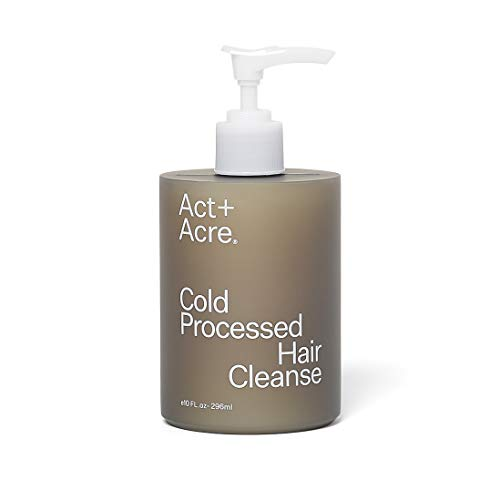 Act+Acre Cold Processed Hair Cleanse | Gentle Natural Shampoo for All Hair Types with Pump (10 Fl Oz / 296 mL) Color…