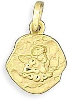 Echt 14 Karat Gold 585 Anhänger Schutzengel 10mm Durchmesser (Art.213329) GRATIS-SOFORT-GRAVUR