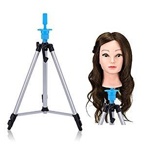 Head Stand Tripod Wig Mannequin Head Tripod Stand Portable 55'' Aluminum Alloy Adjustable Head Holder Tripod Stand with Carry Bag by Graspwind