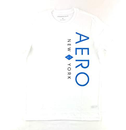 Aeropostale Men's Graphic Logo T-Shirt Large White 2338