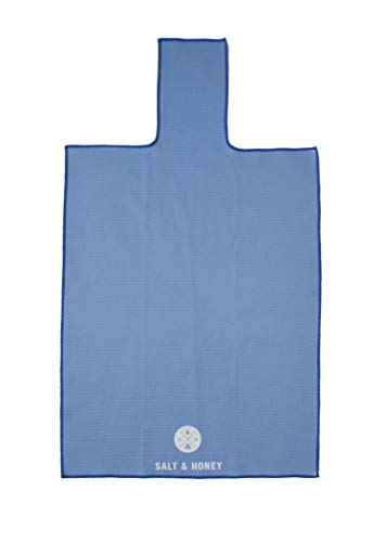 Salt & Honey Non-Slip Pilates Reformer Mat Towel (Blue)
