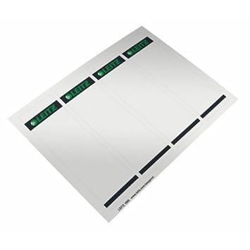Leitz 16852085 - Etiquetas para archivadores (4 unidades de 25 hojas), color blanco: Amazon.es: Oficina y papelería