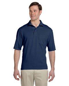 Jerzees Pocket - Jerzees Men's SpotShield Jersey Pocket Polo, J Navy, XXX-Large