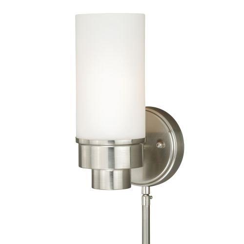 Vaxcel W0179 Tube Smart Lighting Indoor Wall Light, Satin Nickel Finish