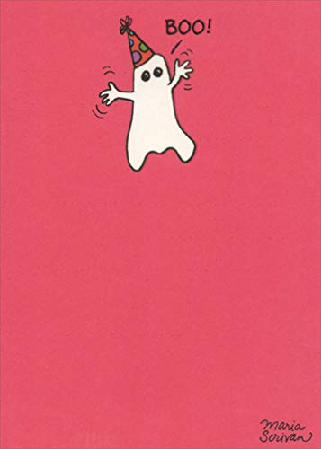 Birthday Boo Funny Halloween Birthday Card - Recycled Paper Greetings -