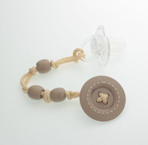宅配 Jeanky Wooden Button Crystal Pacifier Clip (Tan) by Pacifier Crystal Dream by B00GC3988E, HOOD:96f80cf3 --- a0267596.xsph.ru