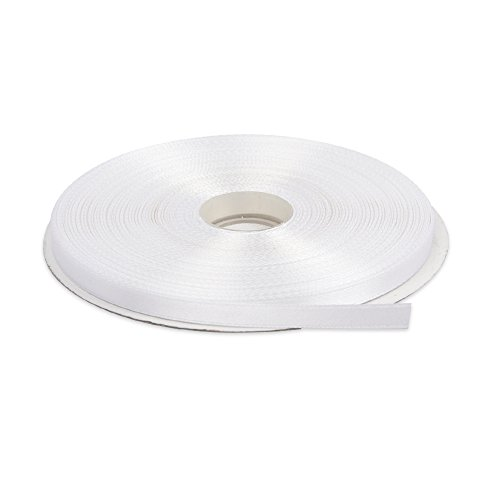 Topenca Supplies 1/4 Inches x 50 Yards Double Face Solid Satin Ribbon Roll, -