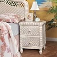 Santa Cruz 2 Drawer Night Stand - White Wash