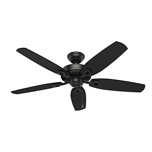 Hunter 53243 Builder Elite 52'' Ceiling Fan, Matte Black by Hunter Fan Company