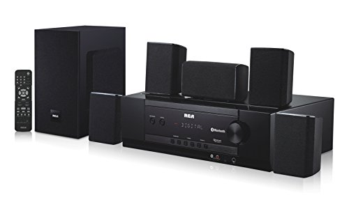 RCA 1000-Watt Audio Receiver Home Theater System - Dolby Digital 5.1 Surround Sound & AM/FM Tuner - Bluetooth & Blu-Ray Compatible, (RT2781BE)