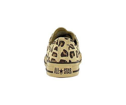 35104ac2da0 Converse Kids  All Star Chuck Taylor Animal Print Leopard Ox Casual Shoes  Beige