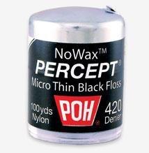 POH Dental Floss Percept 420 Black NoWax 100 -