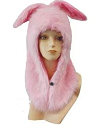 Choose from 8 Styles! - Plush Faux Faur Animal Hood Hat Cap with Ears