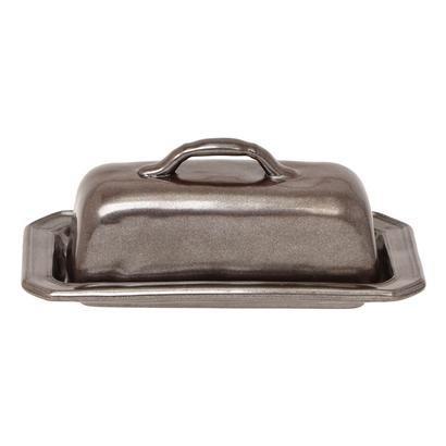 Juliska Pewter Stoneware Butter Dish