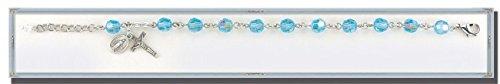 Alexandrite Round Faceted Swarovski Crystal Bead Bracelet