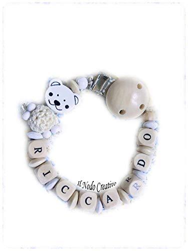 Cadena de chupete | chupetero ivory | nombre adaptable ...