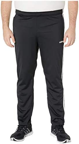 [adidas(アディダス)] メンズパンツ・長ズボン・ジャージ下 Big & Tall Essentials 3-Stripe Tricot Open Hem Pants Black/White 2XLT (2XLT) 31 [並行輸入品]