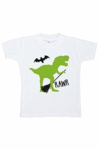 7 ate 9 Apparel Boy's Dinosaur Halloween T-Shirt 3T Black ()