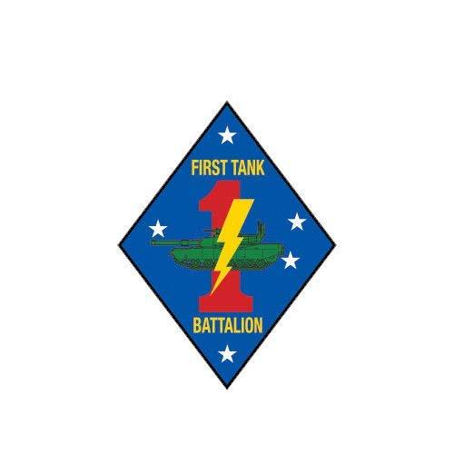 (ION Graphics 1st Tank Battalion USMC Marine Sticker Die Cut Vinyl Marines Corp 5