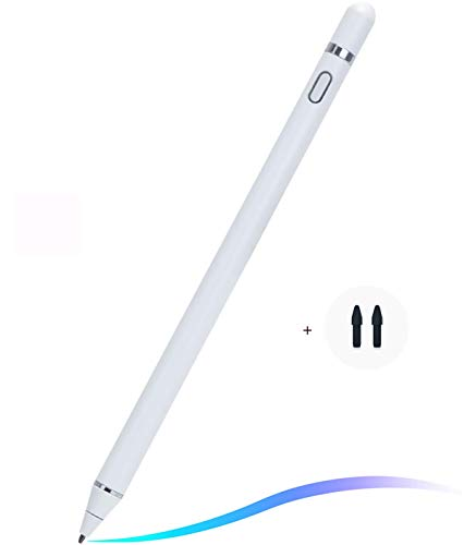 PaisDola Stylus Pen for IPad with Palm Rejection, Active Ipad Pencil Compatible with 2018 Later Versions Ipad for Precise Writing Drawing (1R-white)