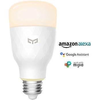 YEELIGHT Smart LED WiFi Light Bulb 10W E26 110V 800lm No Hub Lighting Bulbs Work with Alexa, Google Assistant (TUNABLE White)