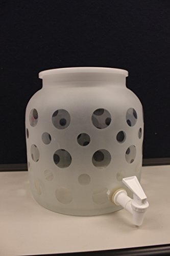 Frosted Glass Water Dispenser- Bubbles by PWH