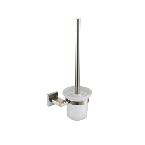 (KES Bathroom Toilet Brush with Holder Wall Mount, SUS304 Stainless Steel Holder Brushed Finish,)