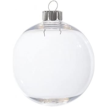 Case of 32 Clear Plastic Round Ball Ornaments - The Look of Glass Ornaments!