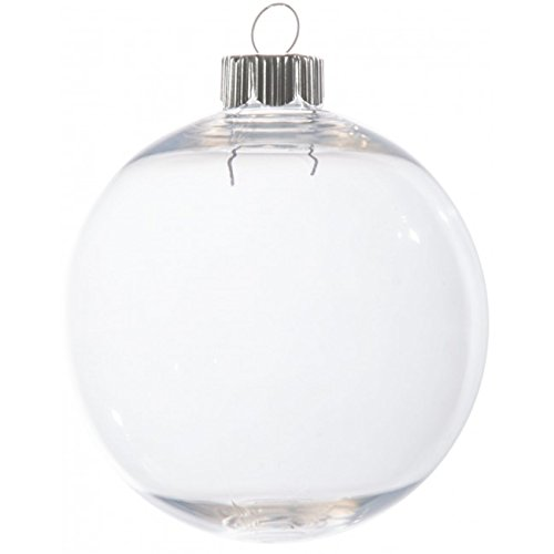 Case of 32 Clear Plastic Round Ball Ornaments - The Look of Glass Ornaments! by (Plastic Ornament Ball)