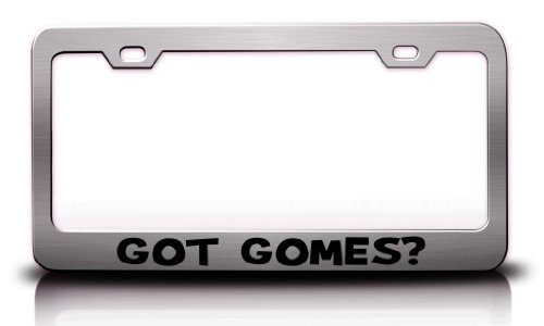 got-gomes-family-name-steel-metal-license-plate-frame-ch-34