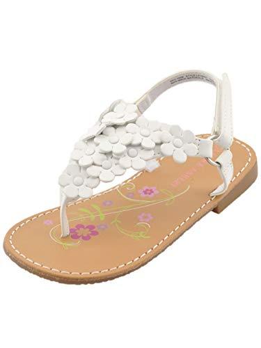 - Laura Ashley Girls Allison Sandals - White/Multi, 6 Toddler