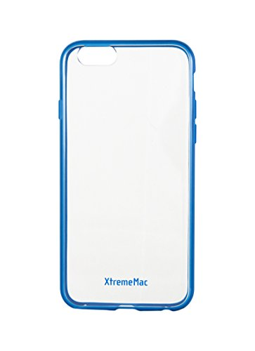 - Soft Grip Back Clear Case for XtremeMac iPhone6   Microshield Accent Blue Ipp-MA6-23