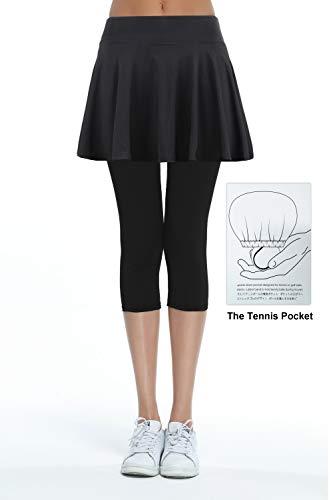 (Women's Built-in Shorts Skirts Swim Fitness Pleated Active Running Tennis Golf Skorts/Leggings)
