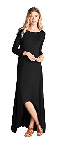Buy black 3/4 sleeve dress jersey - 5