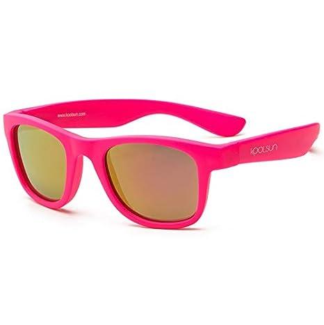 8a9fdcd8e34bea koolsun Baby Lunettes de soleil enfant Wave Fashion 1 +   Rose fluo effet  miroir