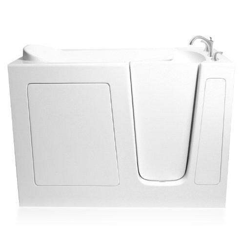 Ariel EZWT-3048-SOAKER-R Soaker Gel Coat Fiberglass Walk In Bathtub with Right Side Drain by Ariel Bath